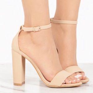 N E W • Bamboo • Block Heel Sandals